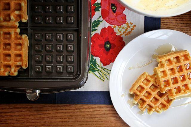Lemon Ricotta Waffles