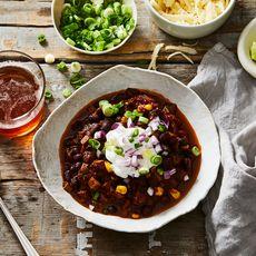 Cremini Mushroom, Black Bean, and Corn Chili