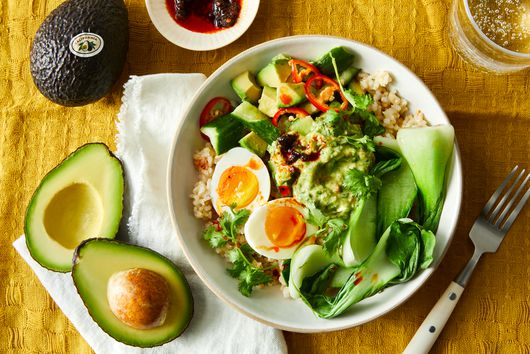 Brown Rice Bowl With Avocado & Spicy Cucumbers