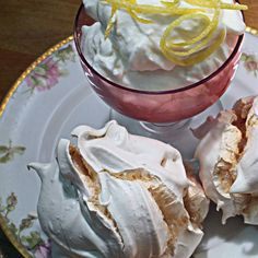 Syllabub with Meringues (or something crunchy)