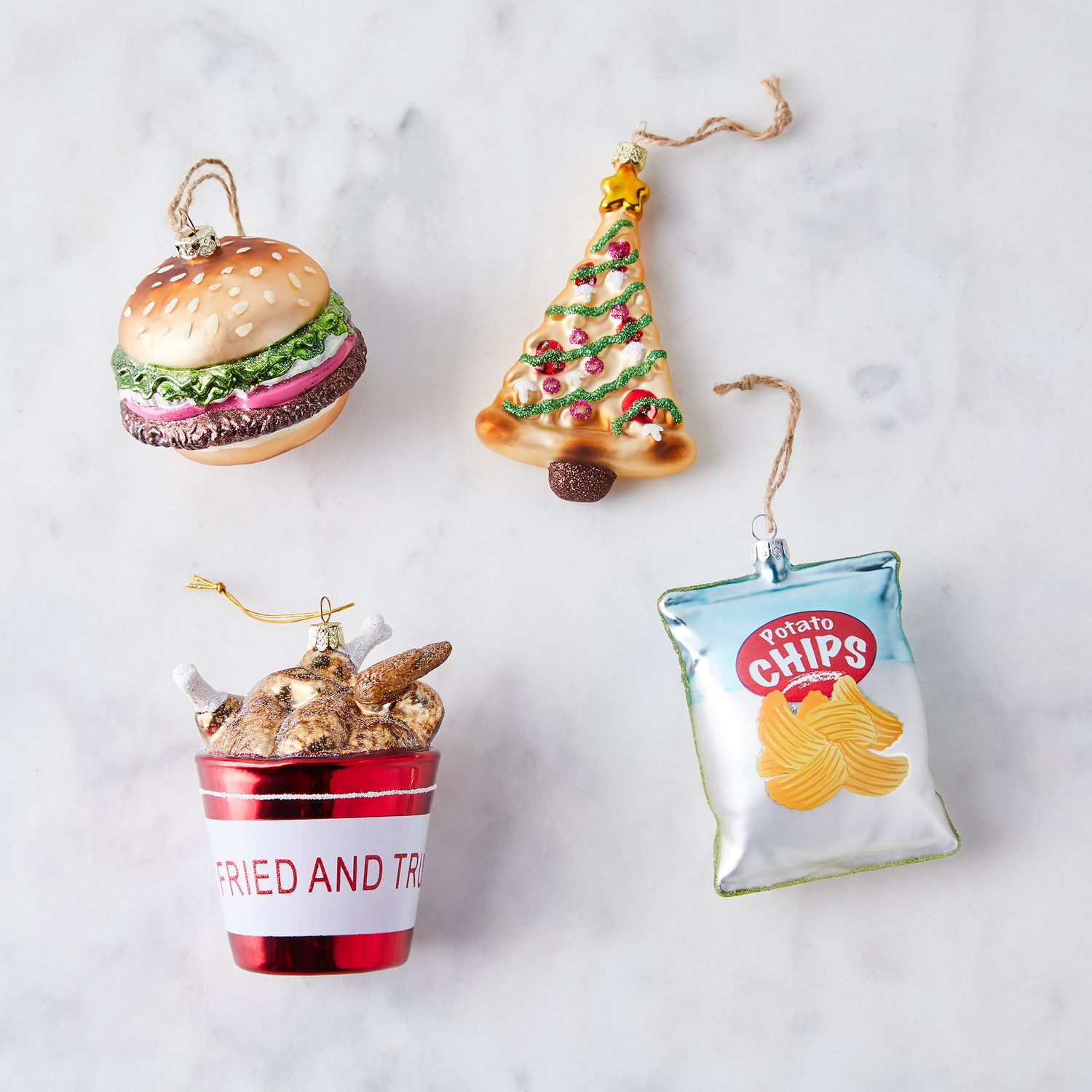 Cody Foster Vintage Glass Food Christmas Ornaments on Food52
