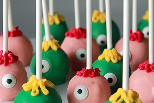Halloween monster cakepops