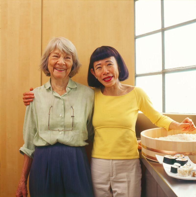 Judith Jones and Hiroko Shimbo in 2006.