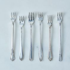 Vintage Oyster Forks (Set of 6)