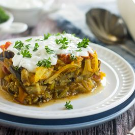 Eggplant with Garlic Yogurt Sauce – Bouranee Baunjan