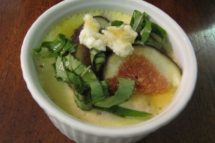 Fresh Fig Custard with Sweet Basil, Blue Cheese and Honey ...