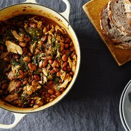 Chicken, Chard, and Cranberry Bean Stew