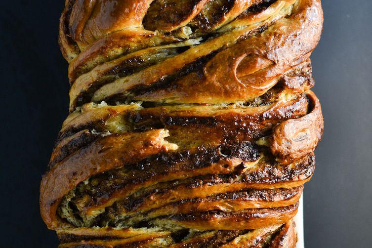 Braided Cardamon Brioche Bread