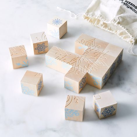 Snowflake Puzzle Blocks