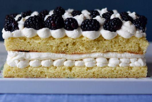 Lemon and Blackberry Mascarpone Cake