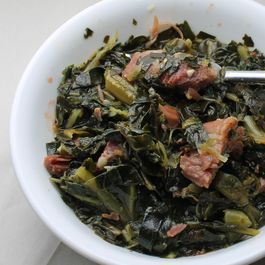 Collard Greens with Smoked Turkey Leg
