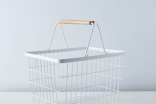 Steel & Wood Laundry Basket
