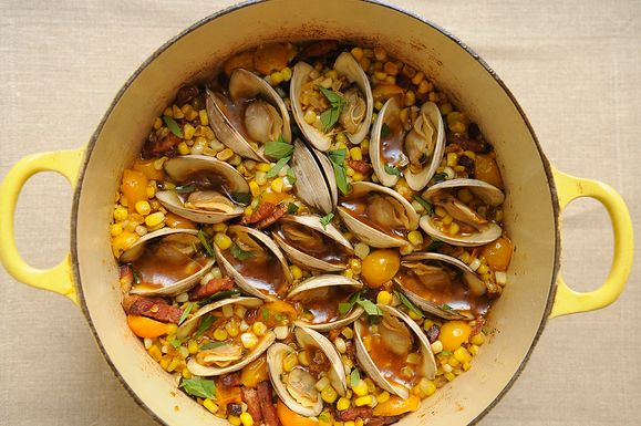 Corn, Bacon and Clam Stew