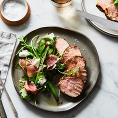 Colby Garrelts' Grilled Pork Loin with Green Bean Salad