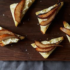 Caramelized Pear and Melted Brie on Brioche
