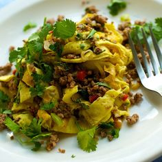 Laotian Beef Salad (larb) with Omelette Noodles