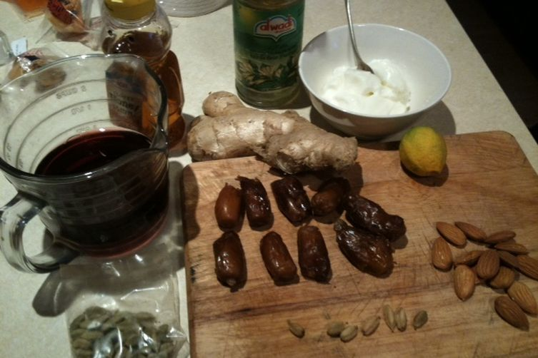 Cardamom & Red Wine Poached Dates with Orange Blossom Yoghurt
