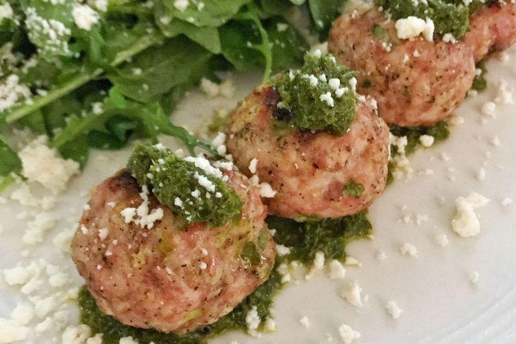Turkey Meatballs with Chimichurri