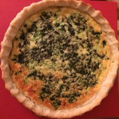 Spinach, Mushroom, and Jarlsberg Quiche