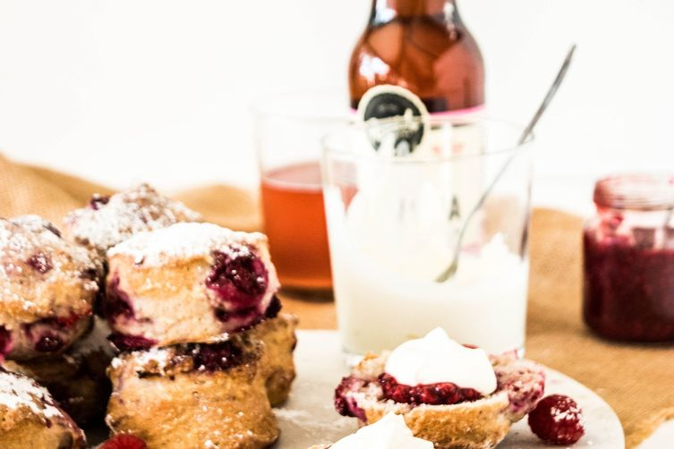 Raspberry Lemonade Scones