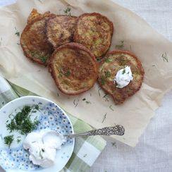 Kuku Sibzamini (Persian-Style Saffron & Potato Fritters)