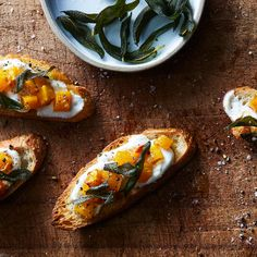 Ricotta Crostini with Butternut Squash and Crispy Sage