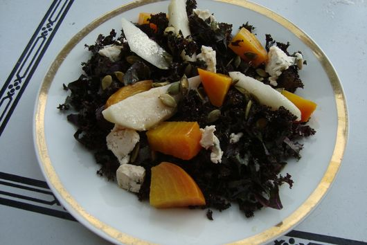 Pear, Golden Beet, and Blue Cheese Salad