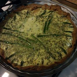 Creamy Tarragon Asparagus Tart