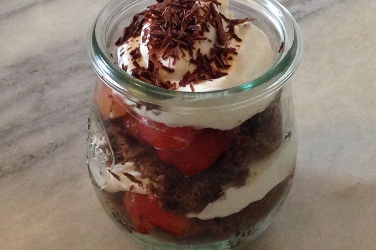 Black Forest Cake In A Jar