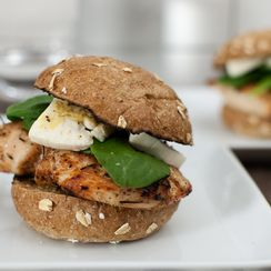 Grilled Chicken Burger with Brie