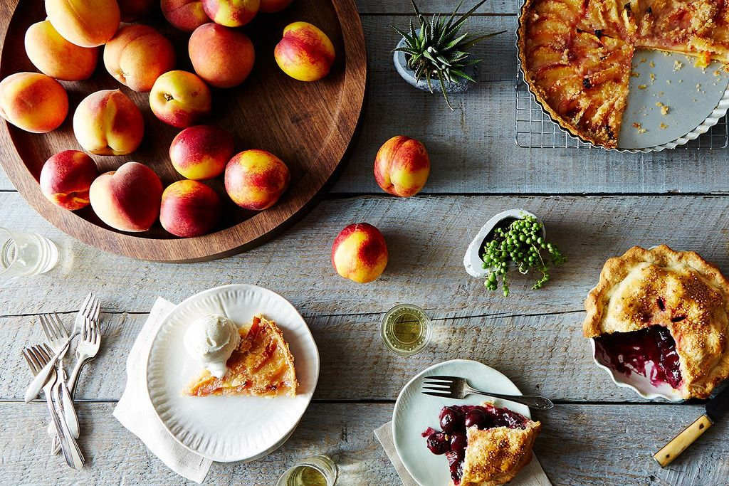 Peaches, nectarines, and pie