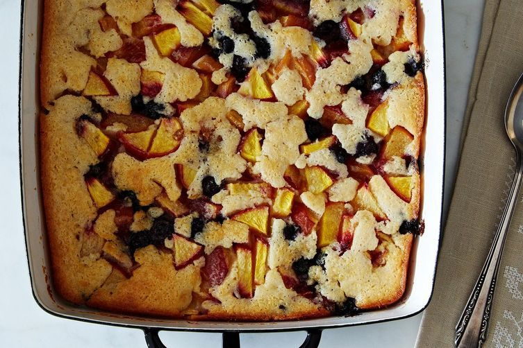 """Cuppa Cuppa Sticka"" Peach and Blueberry Cobbler from Food52"