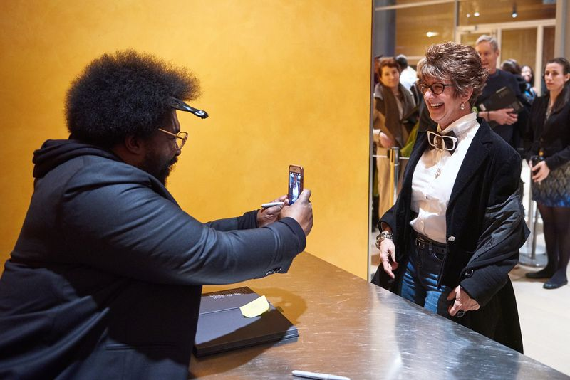 After the talk, Questlove proves his Instagram prowess.