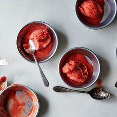Pink Peppercorn-Strawberry Sorbet