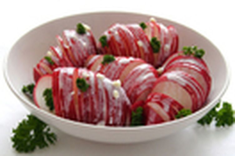 Spring Radishes Salad in a Sour Cream and Yogurt Sauce