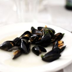 Mussels with cider