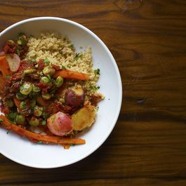 Spring Vegetable Couscous with Esplette Pepper