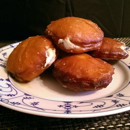 Coffee-Glazed Doughnuts with Bourbon Cream Filling