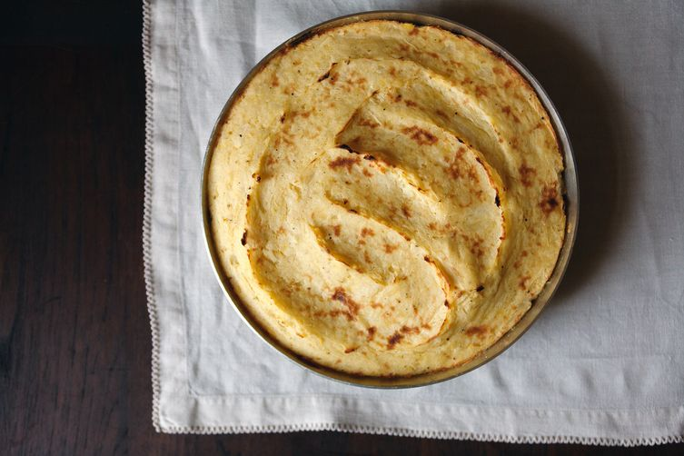 Vegan Lentil Shepherd's Pie with Parsnip and and Potato Mash