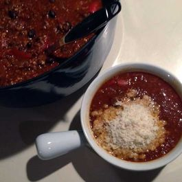 Stuffed Red Pepper & Bean Soup