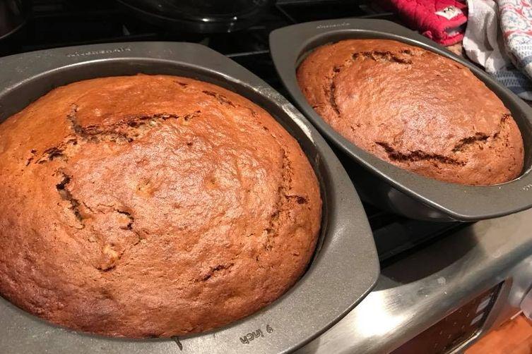 Smoked Bananas Bread Bourbon Soaked Cake
