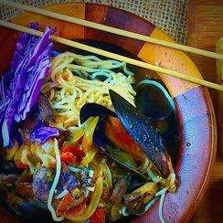 Spicy Tofu Shirataki  with mussels