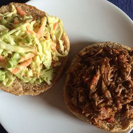 Cuban Adobo Pulled Pork and Slaw Sandwiches