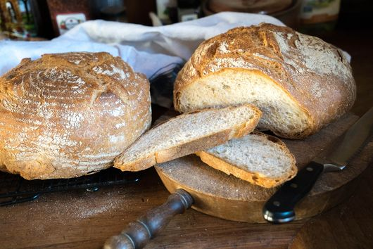 My favorite bread recipe using King Arthur flours.