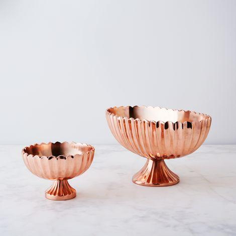 Copper Footed Vase