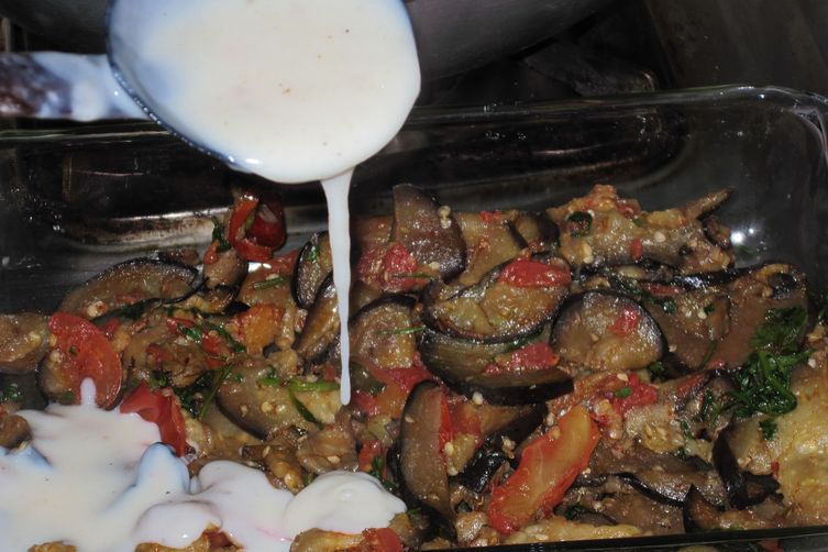 Baked Curried Aubergine