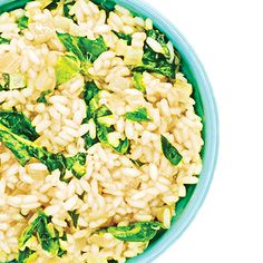 Simple Spinach and Parmesan Risotto