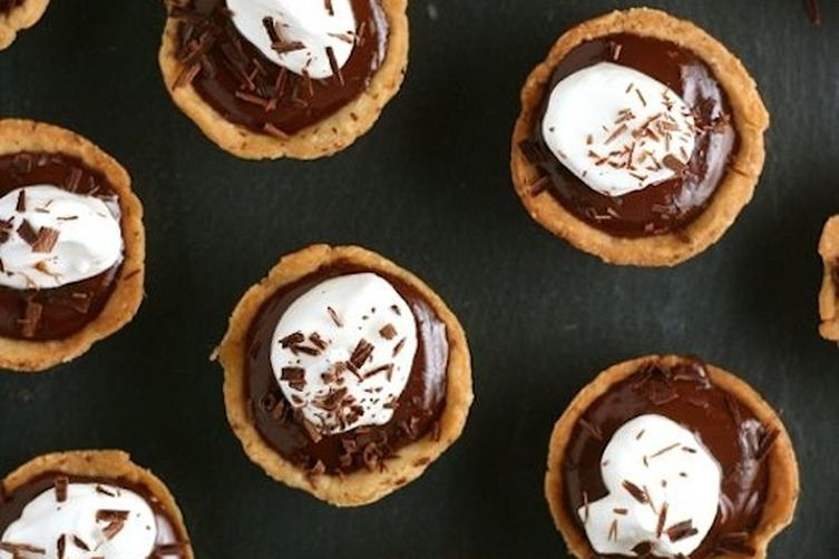 Chocolate-Chipotle Pudding Tarts