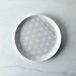 Melamine & Linen Circular Tray