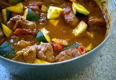 Spicy Pork, Pepper and Zucchini Stew